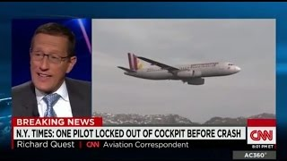 Germanwings FLT 9525 Pilot locked out of Cockpit prior to French Alps Crash