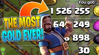 THE MOST GOLD I HAVE EVER SEEN IN ONE RAID!! - Clash of Clans