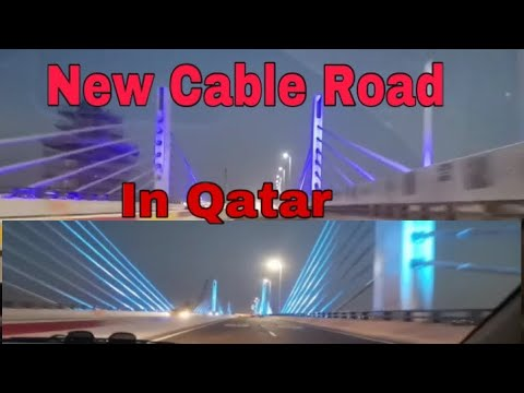 New Suspension Bridge in qatar. supported by cable