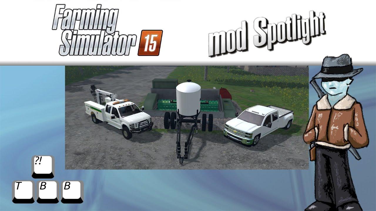 Farming simulator 15 mod spotlight chevy vs ford vs wood chipper youtube