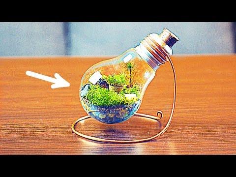 светильники из пластиковых бутылок своими руками