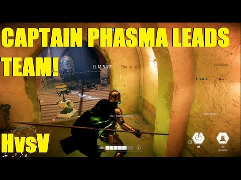 Star Wars Battlefront 2 - Captain Phasma With the HvsV Carry! Don't underestimate her! thumbnail