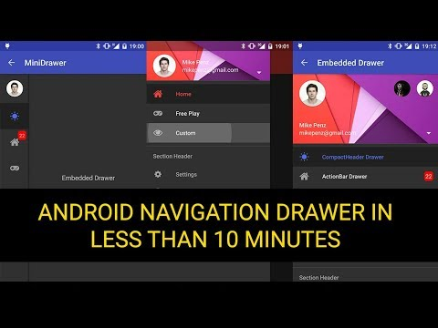 Implement an Android Navigation Drawer with MaterialDrawer in less than 10 min