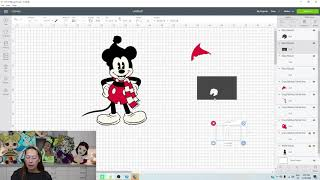 DIY Christmas Mickey Mouse Off the Mat - Using Cricut Design Space Tutorial