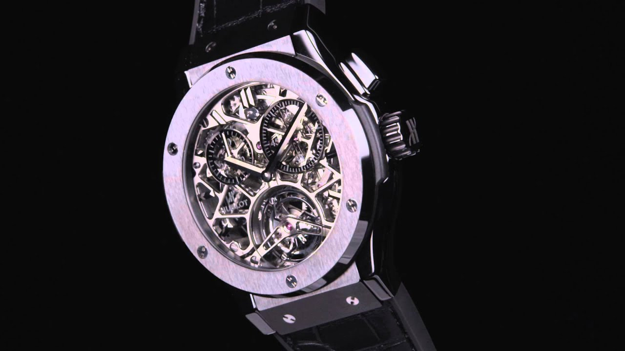 HUBLOT CLASSIC FUSION TOURBILLON SKELETON ALL BLACK