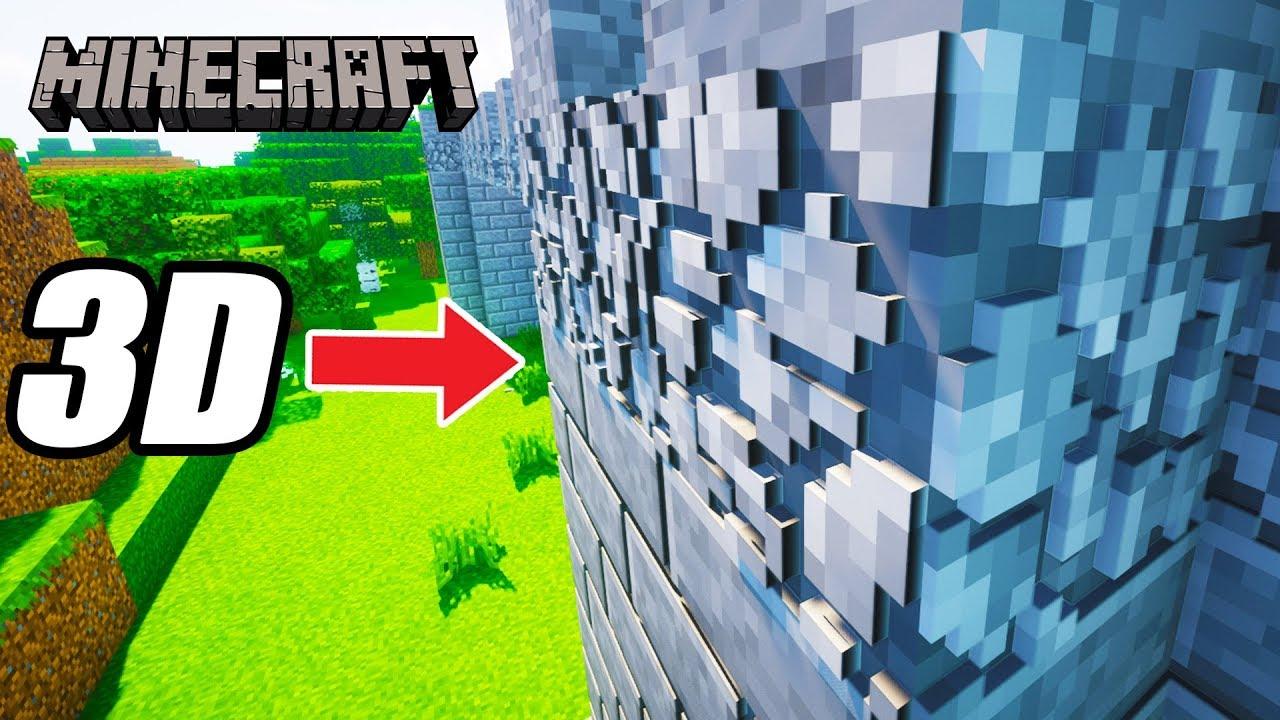 Minecraft 1.14 3D BLOCKS TEXTURE PACK (Default 3D Resource Pack) - YouTube