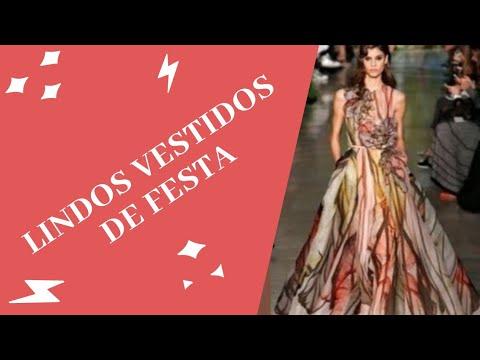 40b72dead2 50 Lindos Modelos de Vestidos Estampados par Festas - YouTube