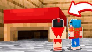 El mejor ESCONDITE de 1 PIXEL DEBAJO DE LA CAMA 😂 ¡Los compas en Minecraft!