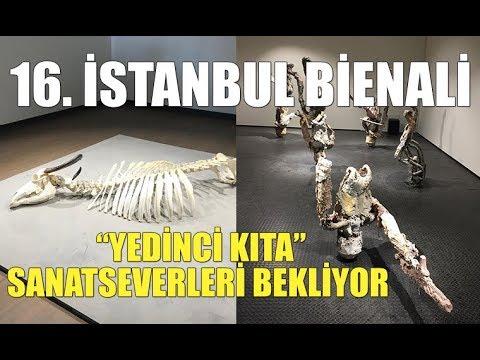 """16. İstanbul Bienali, """"Yedinci Kıta"""" başlığı ile sanatseverleri ağırlıyor."""