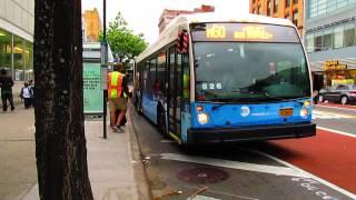 LaGuardia Airport bound Nova Bus LFSA #5977 on the M60 +SBS at 125 St & Lexington Ave