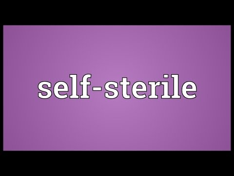Self-sterile Meaning