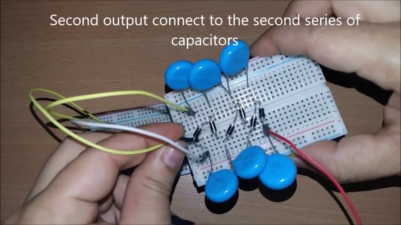 Simple Easy 5 Volt DC to 5000 Volt DC high voltage multiplier  YouTube