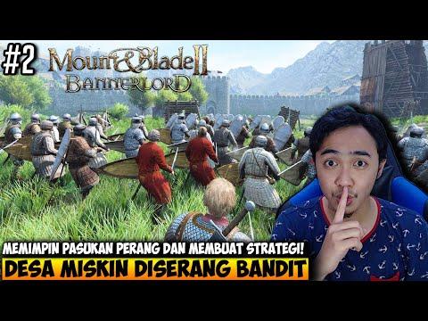 MELINDUNGI DESA MISKIN DARI PENJAJAHAN BANDIT - MOUNT AND BLADE 2 BANNERLORD INDONESIA - PART 2 - 동영상
