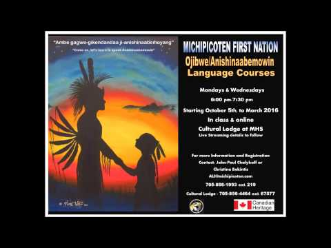Michipicoten Ojibwe Language Classes