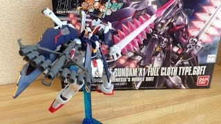 HG Crossbone Gundam X1 Full Cloth  review part2  HG クロスボーンガンダムX1フルクロスTYPE.GBFT 完成編 ガンプラ