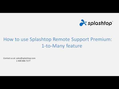 1-to-Many - Splashtop Remote Support Premium