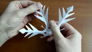 видео Как сделать снежинки из бумаги, схемы снежинок, объемные снежинки