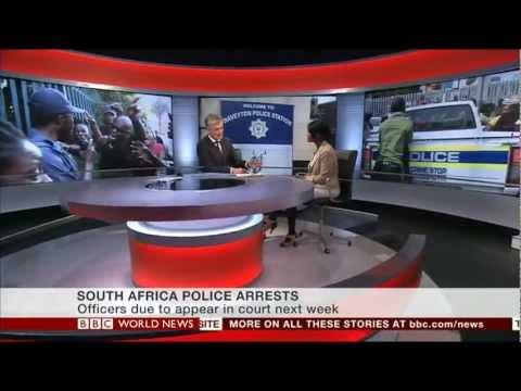 Lebo Diseko on BBC World News discussing SA police brutality case