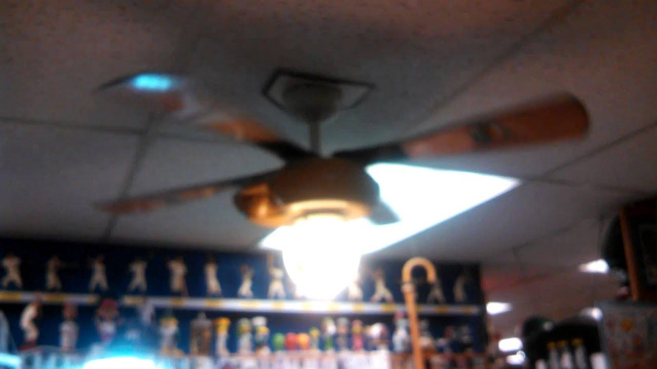 Hunter Baseball Ceiling Fan and a hugger ceiling fan in a shoe