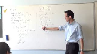 Functions of Displacement: Harder Example (2 of 3 - Integrating for x)
