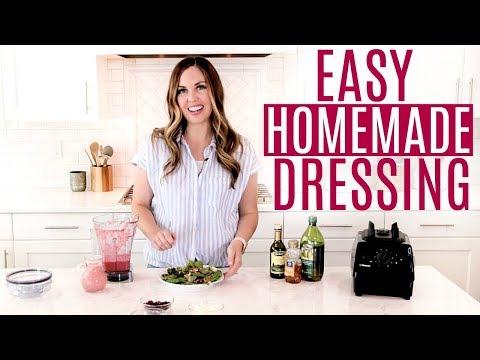 EASY Homemade Raspberry Balsamic Vinaigrette Salad Dressing