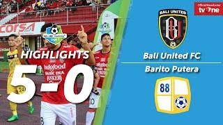 Bali United Vs Barito Putera: 5-0 All Goal & Highlights
