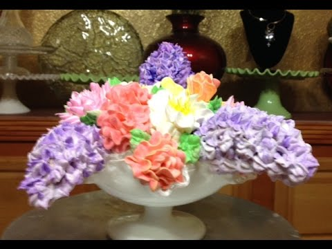 Spring Bouquet Cake In a Candy Dish- Buttercream -Cake ...