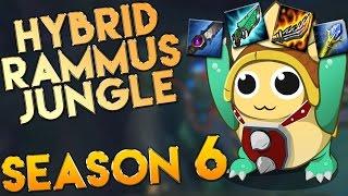 AP/Hybrid Rammus Jungle Season 6 Gameplay - League of Legends LoL Rammus Season 6