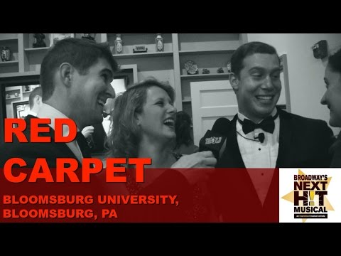 On the Red Carpet at Bloomsburg University with Marc T. Engberg for Broadway's Next Hit Musical