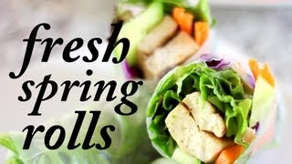 Fresh Vegan Spring Rolls | Cheap Clean Eats