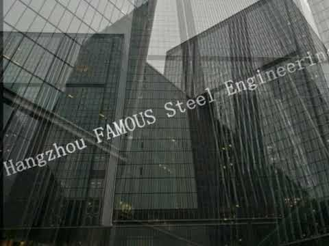 Insulated Double Skin Glass Curtain Wall Removable Office Partition Walls System China Supplier
