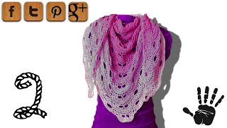 Virus shawl crochet tutorial part 2 - © Woolpedia
