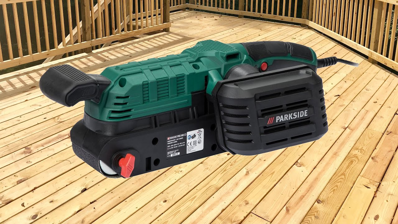 Parkside belt sander pbs 900 c3 review testing youtube for Levigatrice a penna multifunzione parkside