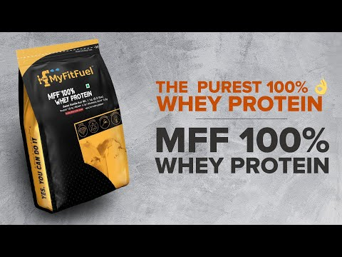 MyFitFuel 100% Whey Protein |Contain Pure 90% Isolate Protein|High Muscle Growth & Protein Synthesis