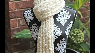 DIY: How to Crochet Scarf With Loom (Knitting) Thumbnail