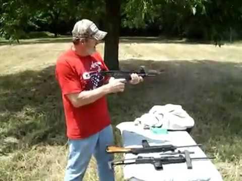 Bill shooting the Global Machine & Tool LLC full size Uzi pistol