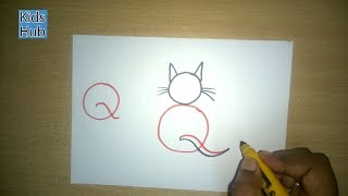 Draw with Alphabet Q | Fun with Alphabets | Drawing for kids