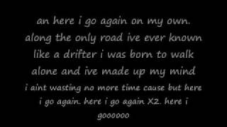 Here i go again -whitesnake(lyrics)