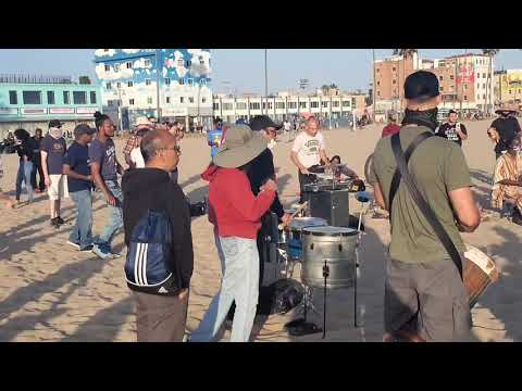 Venice Beach  Drum Circle Is Back As States Are Reopening