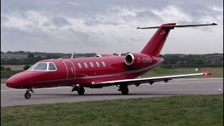 Hahn Air Cesnca C525 D-CHRA Take Off at Cambridge Airport