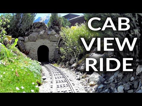 Cabview ride on world's best LEGO train Garden Railway in Switzerland