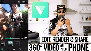 VeeR Editor - Edit, Render & Share 360 / VR Videos from a phone,  Android app review & tutorial