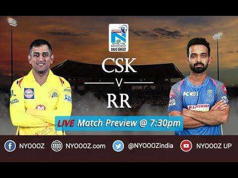 Live IPL 2018 Match Preview Show Chennai vs Rajasthan   CSK vs RR 2018   MS Dhoni batting