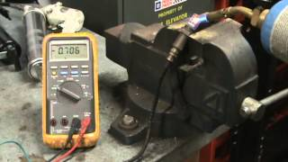 bench testing an oxygen sensor with a propane torch