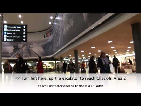 Zurich (ZRH) Airport: How To Get From Train Station to Check-In 1 Walkthrough