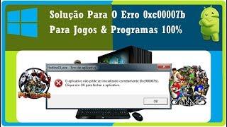 Solução 100% Para o Erro 0x0000007b Em Jogos & Programas ( GTA, BATMAN, Need For Speed)