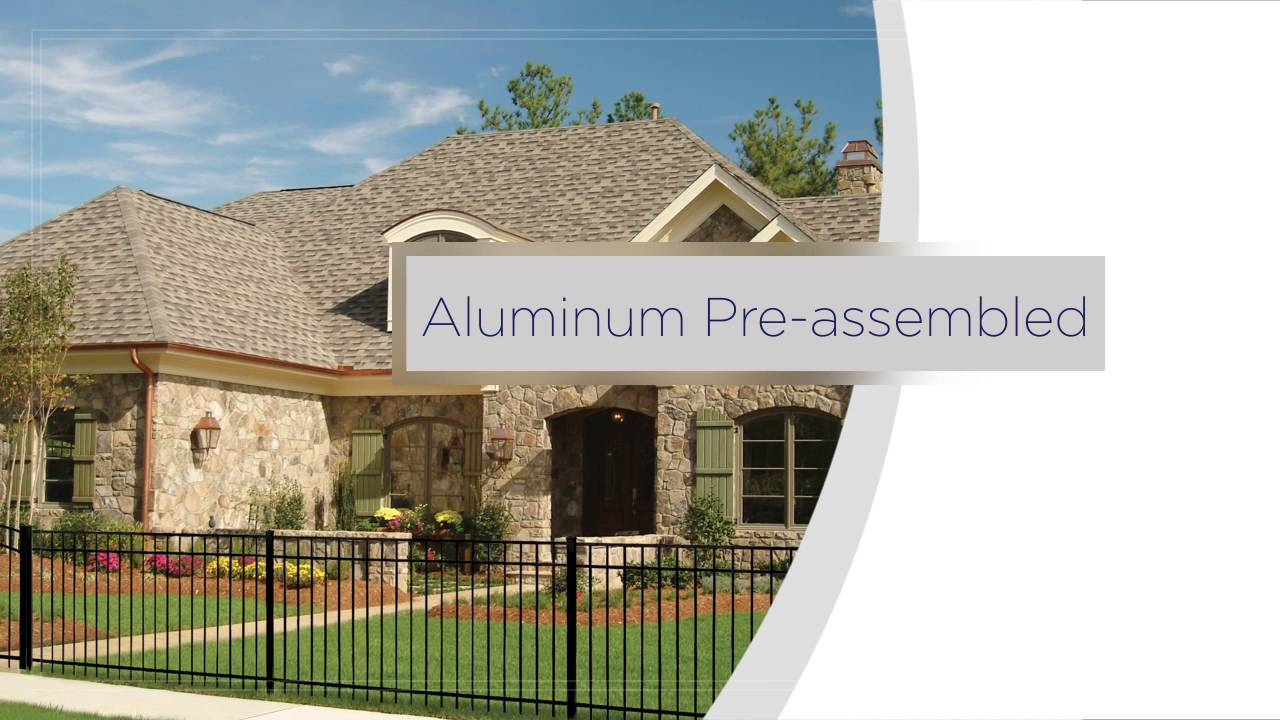 Freedom Pre-Assembled Aluminum Fence Installation Overview