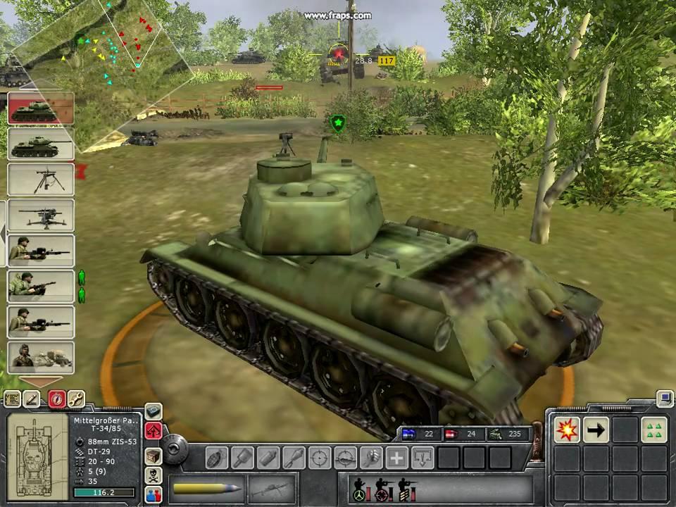 Men of War T34 vs Pant...