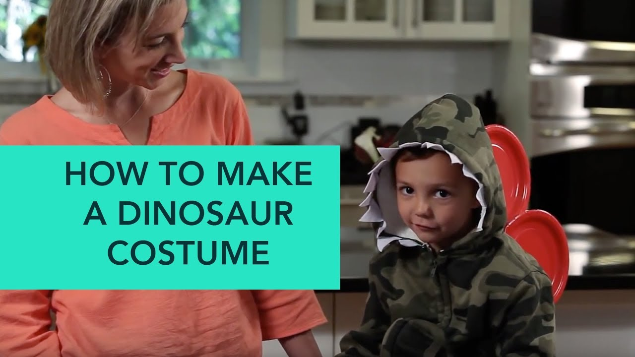 How to make a dinosaur costume easy diy halloween care youtube how to make a dinosaur costume easy diy halloween care solutioingenieria Image collections