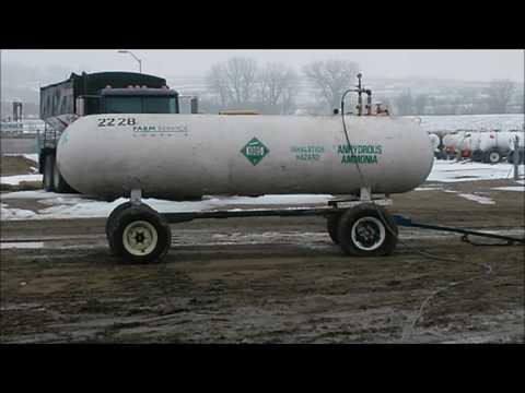 NH3 Anhydrous Ammonia Nurse Tank Burst